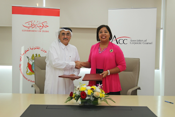 The Government of Dubai Legal Affairs Department signs Memorandum of Understanding with the Association of Corporate Counsel - 28/05/2017