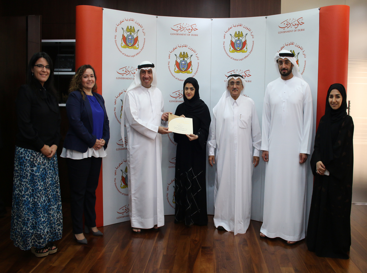 Employees of the Government of Dubai Legal Affairs Department honoured in Dubai Government Excellence Program - 31/05/2017