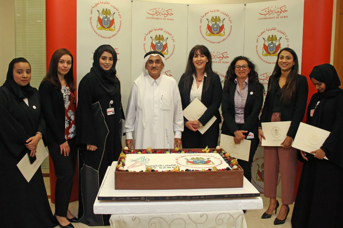 The Department's team is honored for their participation in the Government Games competition