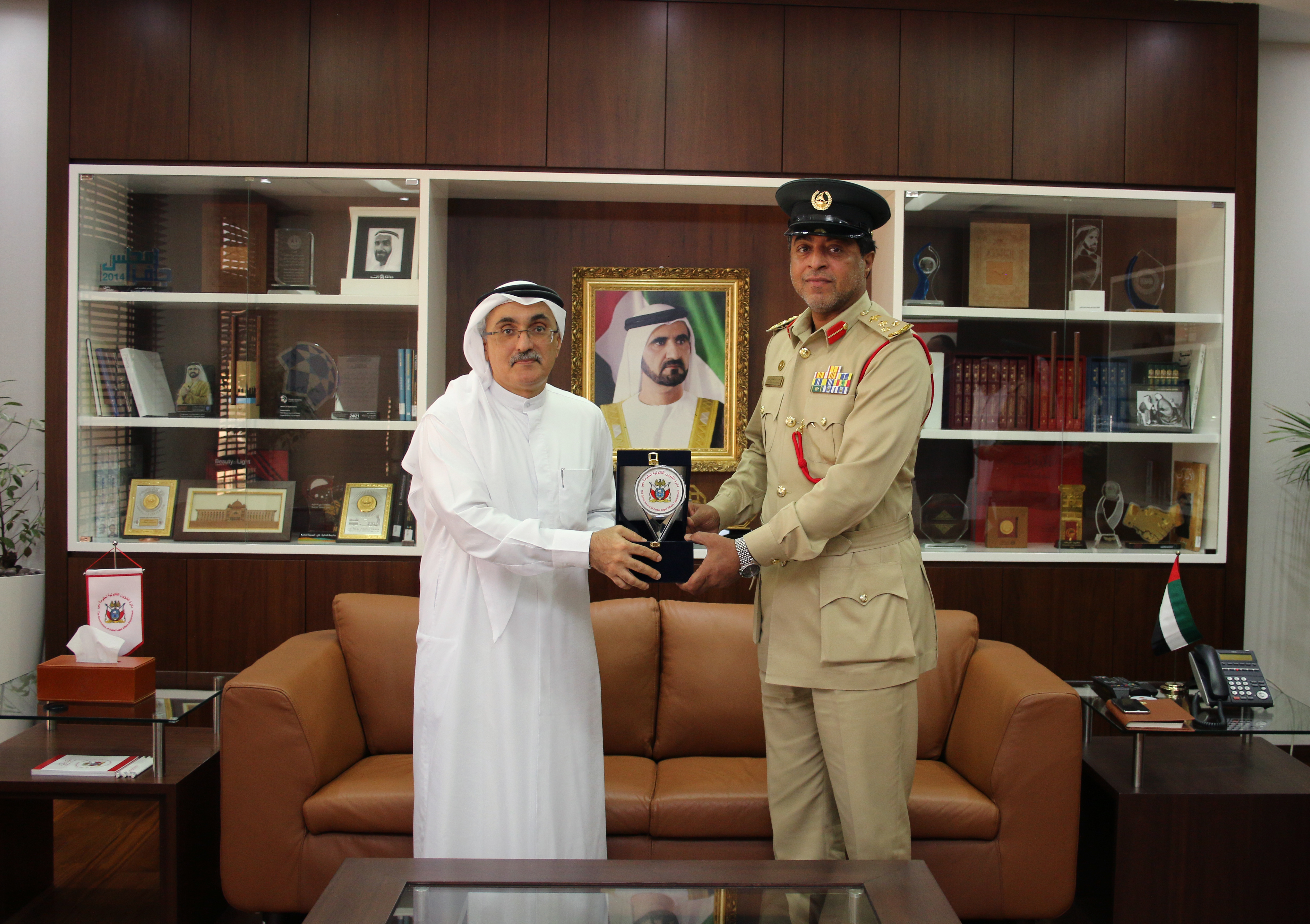 The Government of Dubai Legal Affairs Department briefs a Police Judicial Council delegation on its Best Practices