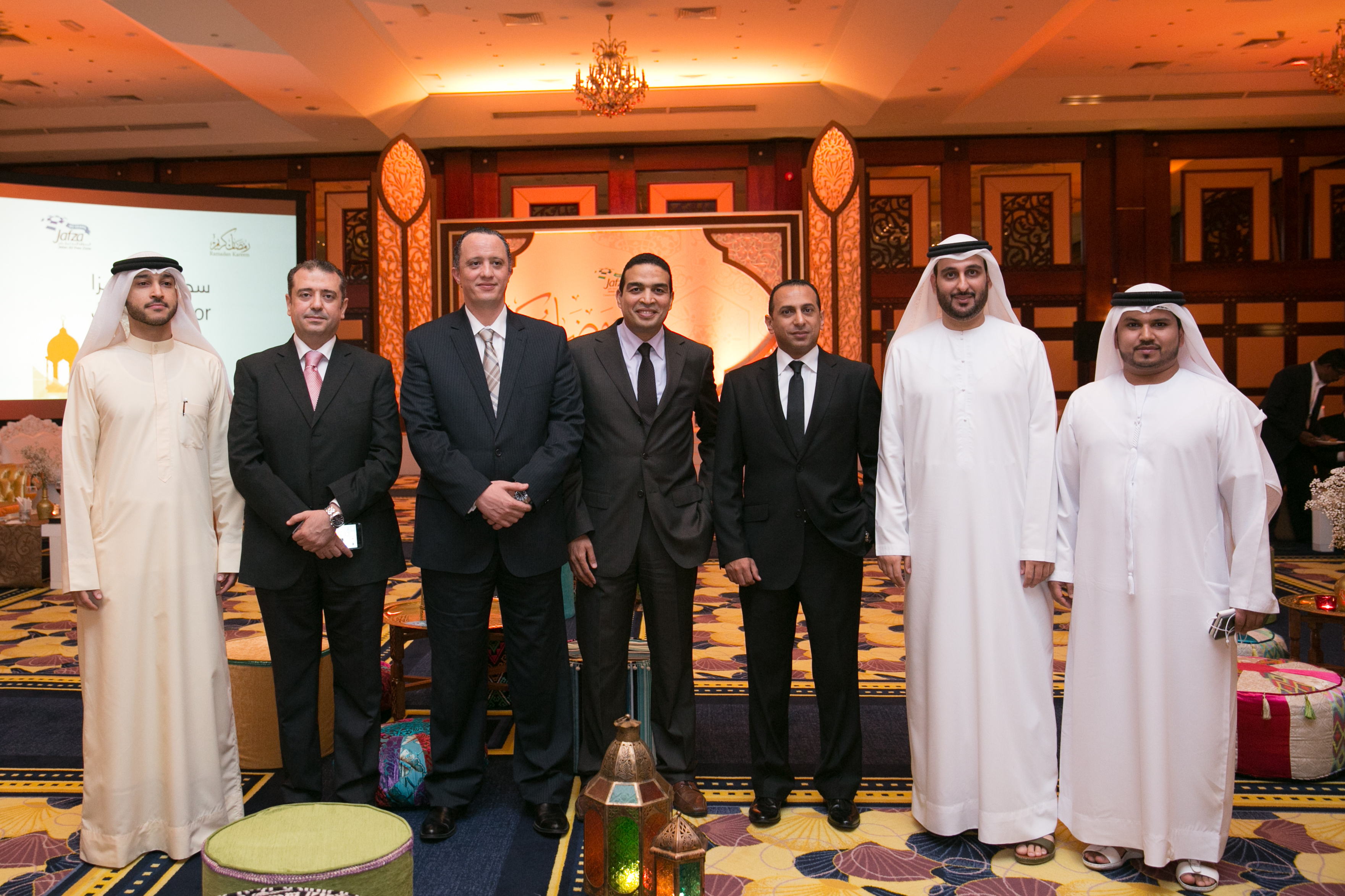 JAFZA honors a number of the Government of Dubai Legal Affairs Department's legal consultants during the Ramadan Suhoor Event including Mr.Mohamed El Sherif, Mr.Omer Eltom, Mr.Ahmed Ezzat, Dr.Mohamed Othman, Mr.Tareq Haridy and Mr. afiq Raouf 12/07/2016