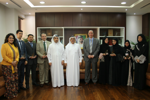 The Legal Affairs Department Honors Employee   Winners of Al Qestas Excellence Award