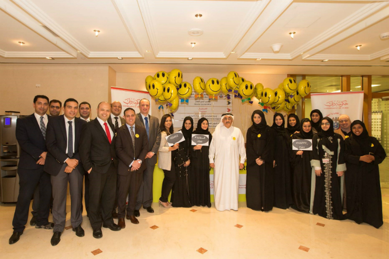 "The Government of Dubai Legal Affairs Department Celebrates the International Day of Happiness and Distributed ""Perceptions in Happiness and Positivity"" Book to its Employees"