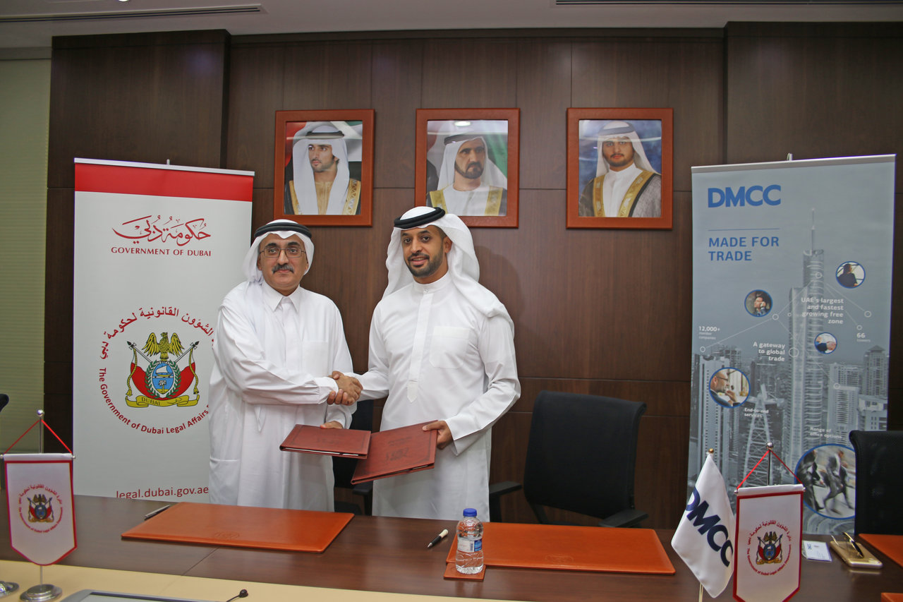 "Memorandum of Understanding between the Government of Dubai Legal Affairs Department and Dubai Multi Commodities Centre (""DMCC"")"