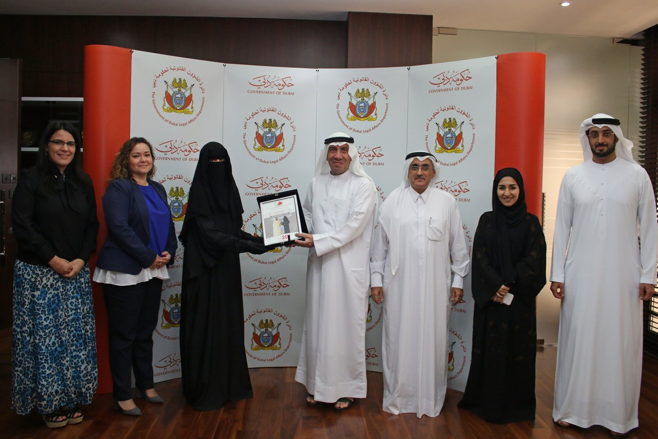 Employees of the Government of Dubai Legal Affairs Department honoured in Dubai Government Excellence Program
