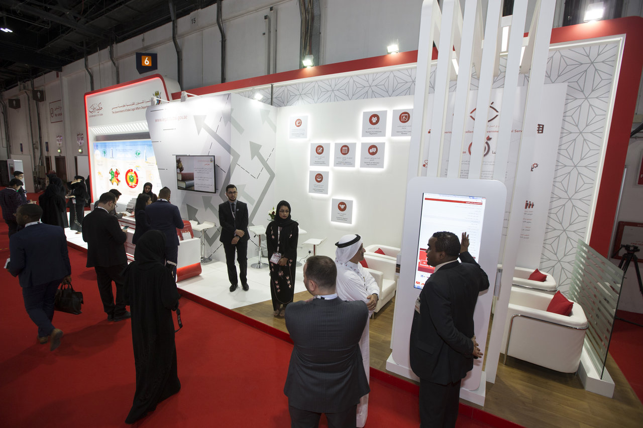 The Government of Dubai Legal Affairs Department showcases its Achievements and Initiatives at DIGAE